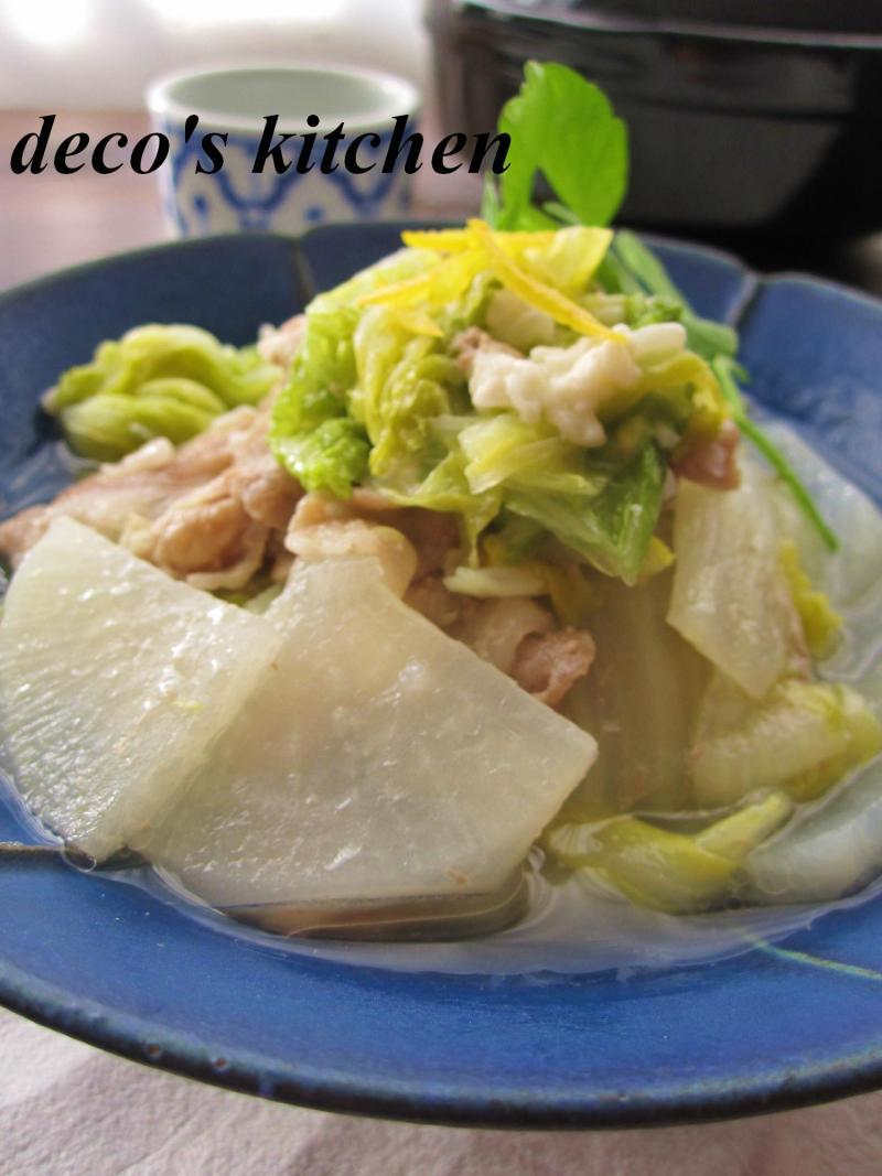 豚肉と大根と白菜の塩麹蒸し煮3