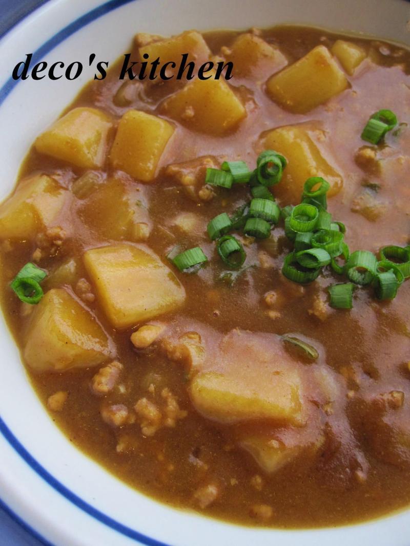 decoの小さな台所。-長芋とねぎの豚ひきカレー3