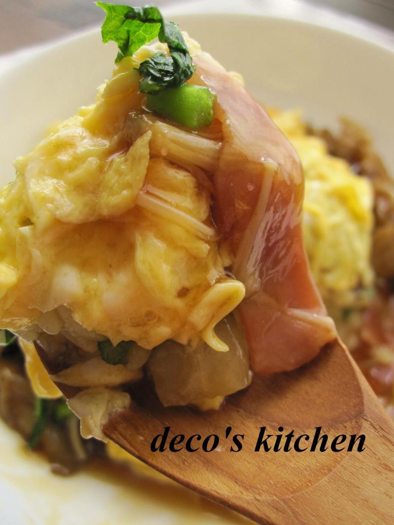 decoの小さな台所。-和風あんかけオムライス7