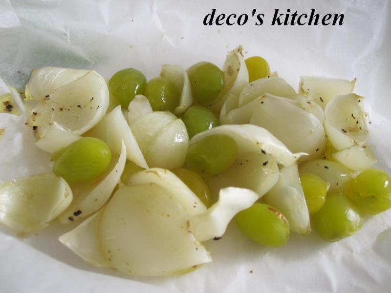 decoの小さな台所。-銀杏とゆりねの包み焼き3