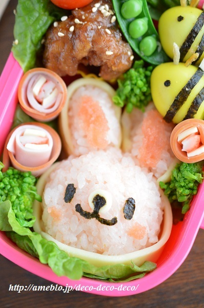 うさぎちゃん弁当3