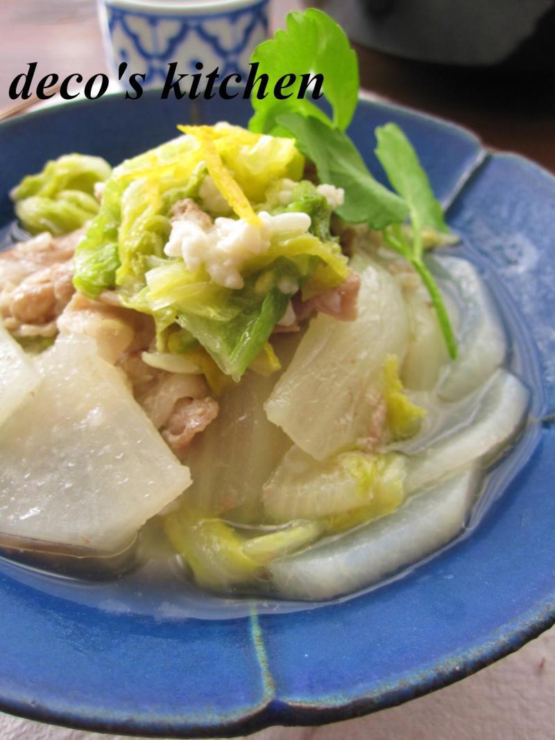 豚肉と大根と白菜の塩麹蒸し煮4