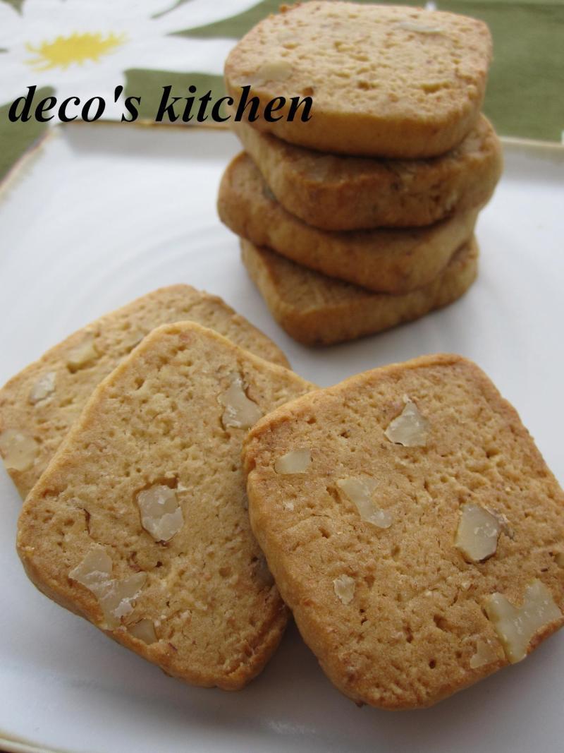 decoの小さな台所。-白味噌とくるみのミルクバタークッキー1
