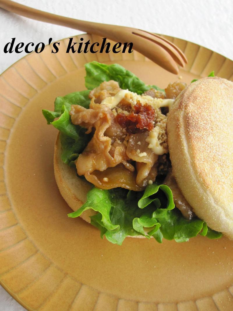 decoの小さな台所。-サムジャンでサンド1