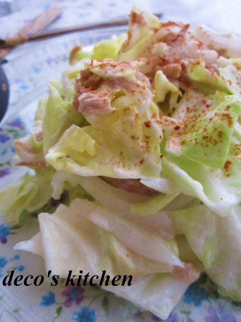 decoの小さな台所。-春キャベツと新たまねぎのサラダ3