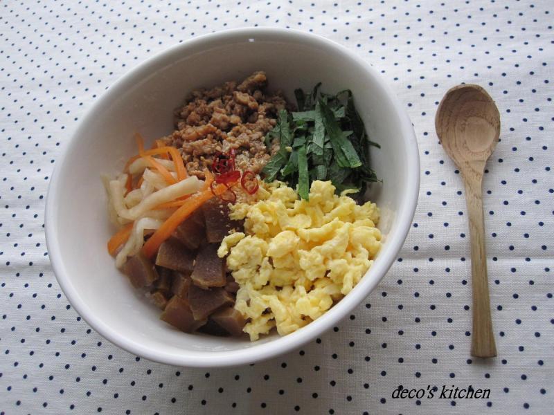 decoの小さな台所。-もっちもち黒米の具だくさん混ぜまぜご飯