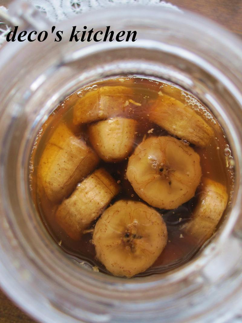 decoの小さな台所。-黒糖バナナ黒酢2