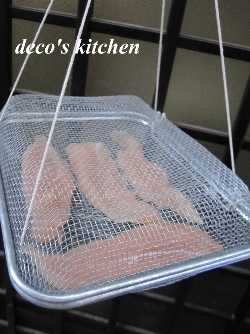 decoの小さな台所。-ささみ燻製工程1