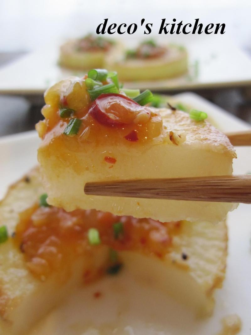 decoの小さな台所。-大根ステーキ韓国風ソース5