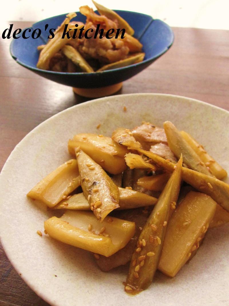 decoの小さな台所。-豚肉とごぼれんこんで2品1