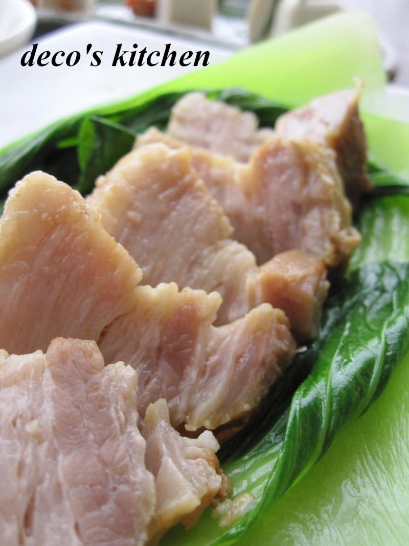 decoの小さな台所。-豚バラのオイスター醤油青梗菜添え3