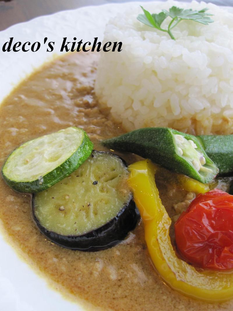 decoの小さな台所。-夏野菜の和風豆乳カレー2