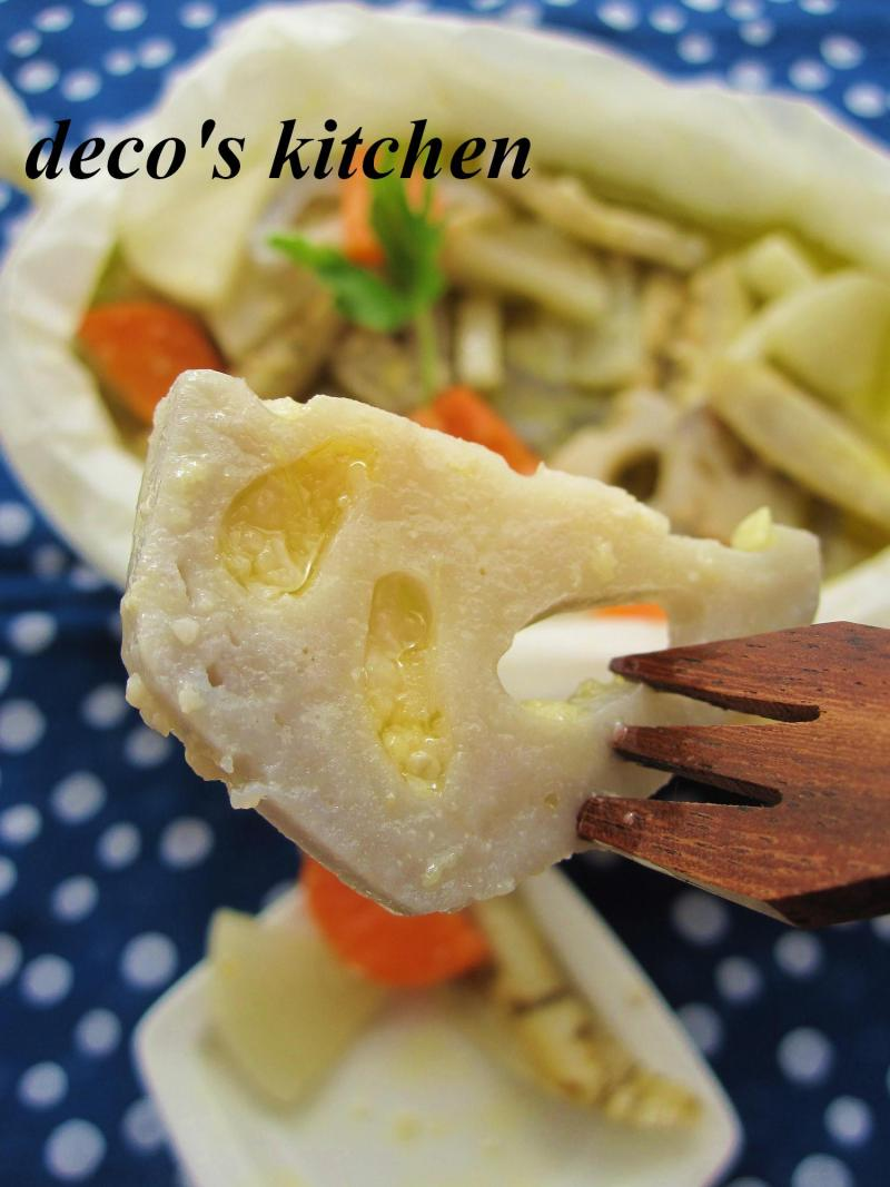 根菜の和風アヒージョ7