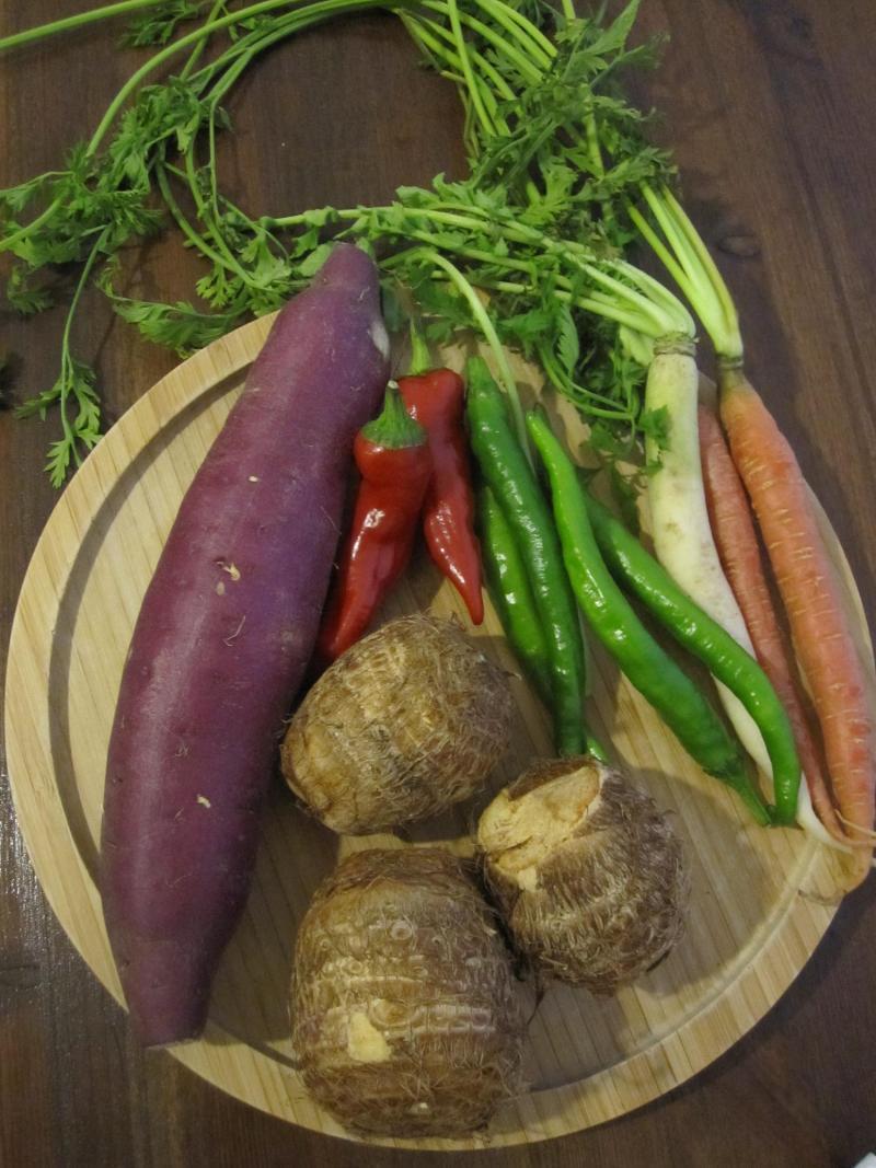 decoの小さな台所。-いただいた京野菜