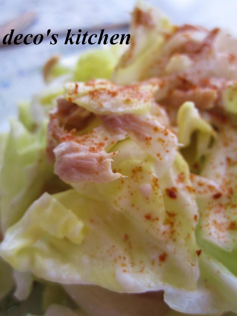 decoの小さな台所。-春キャベツと新たまねぎのサラダ4