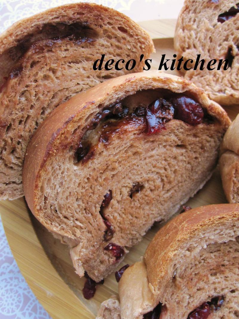 decoの小さな台所。-クランベリーチョコバナナパン4