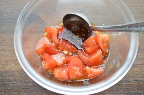 トマト漬け丼工程1