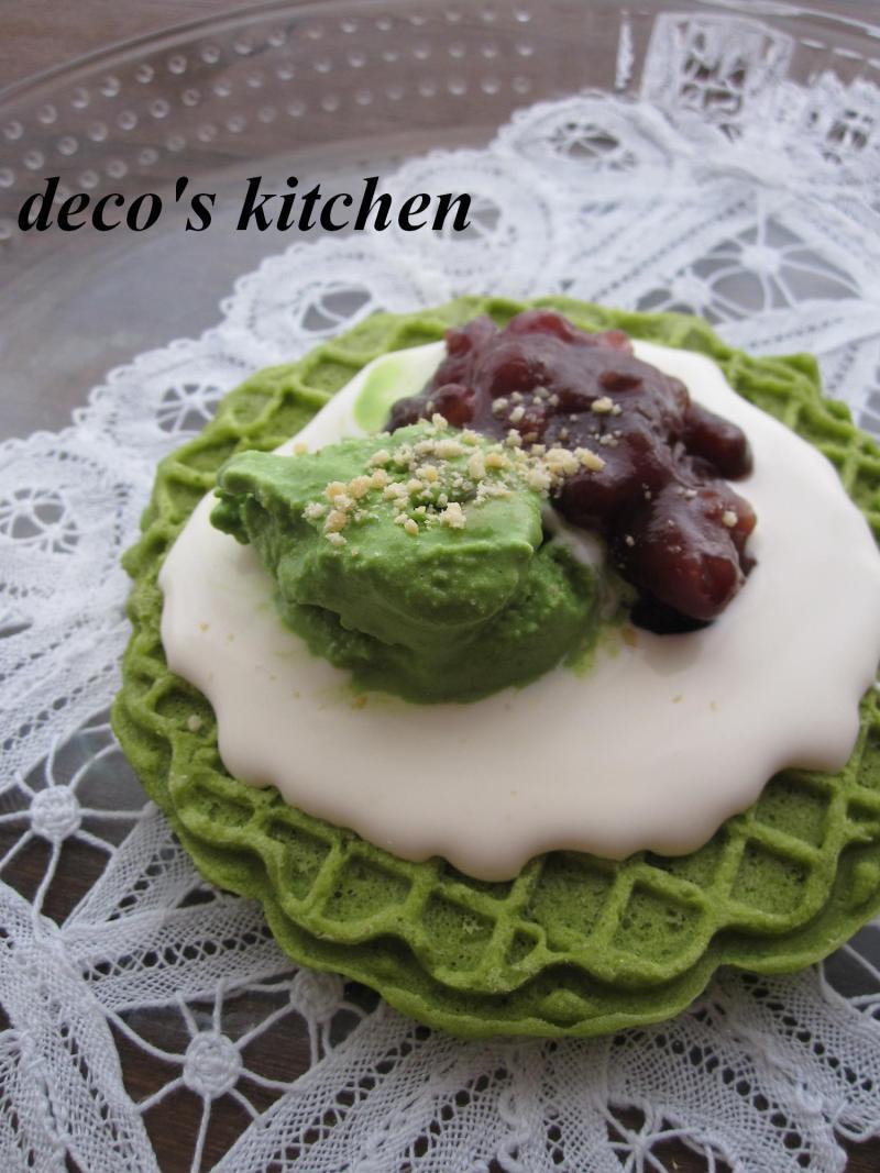 decoの小さな台所。-抹茶ピッツェル1