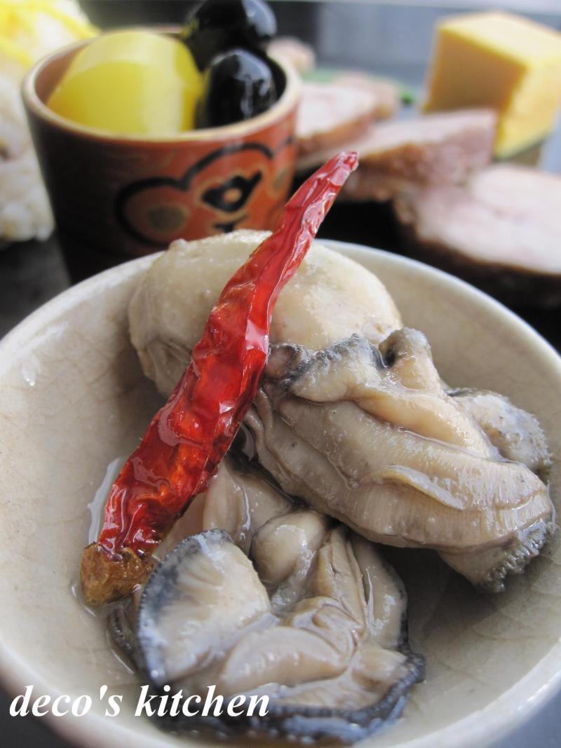 decoの小さな台所。-ささやかなお節~tottoさんの牡蠣のオイル漬け