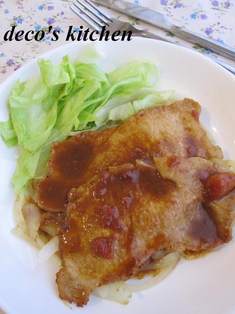 decoの小さな台所。-豚のトマみそ生姜焼き1