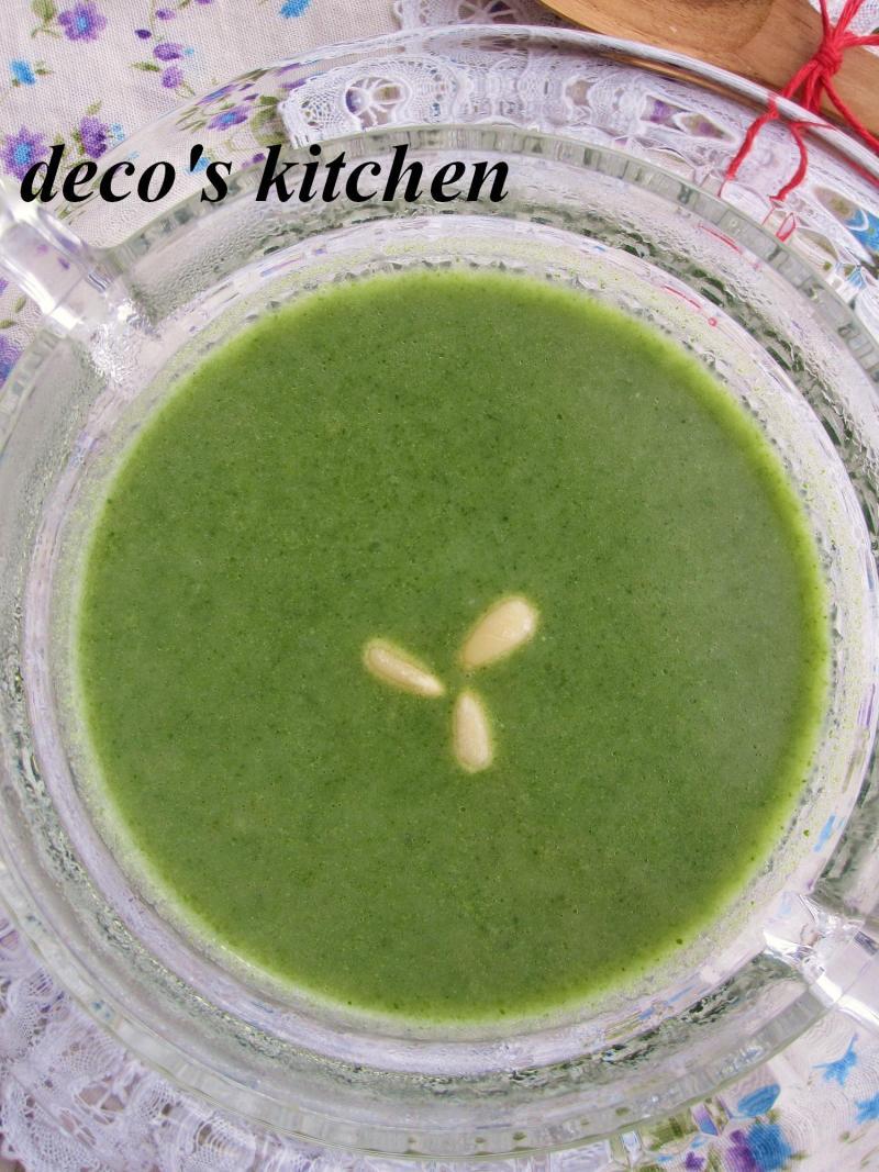 decoの小さな台所。-ほうれん草と長芋の塩麹ポタージュ2