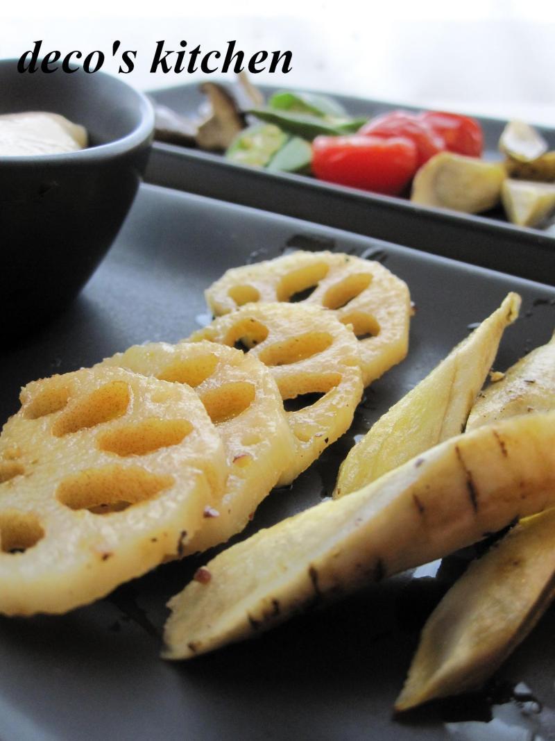 decoの小さな台所。-お豆腐ディップと焼き野菜の一皿3