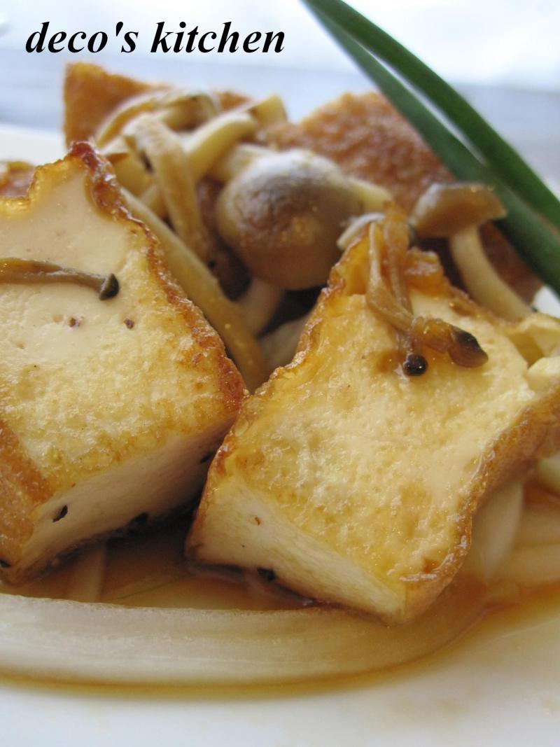 decoの小さな台所。-厚揚げと新玉ねぎの甘辛ポン酢3