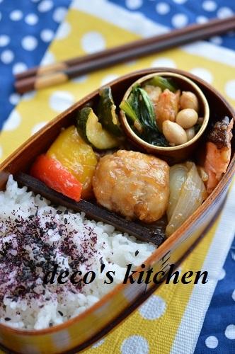 平天と小松菜の醤油麹炒め1