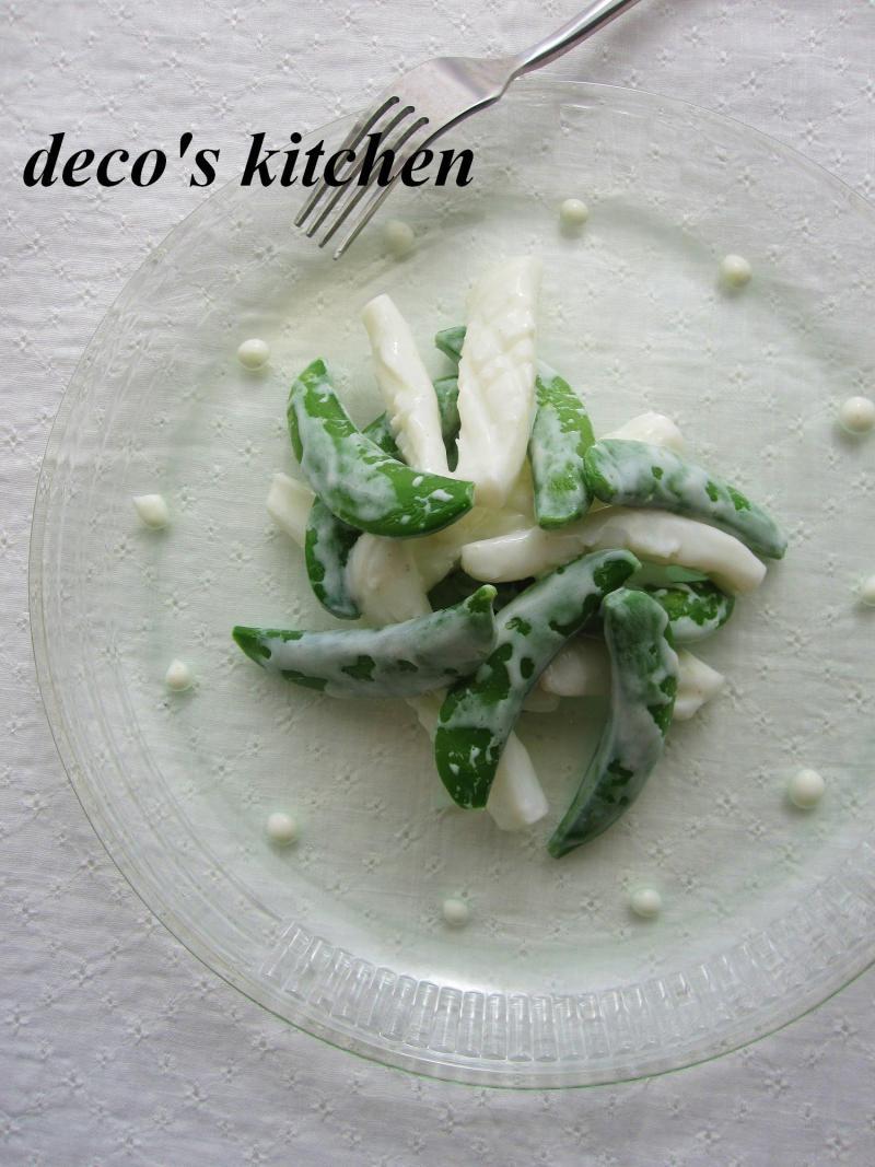decoの小さな台所。-イカとスナップえんどう1