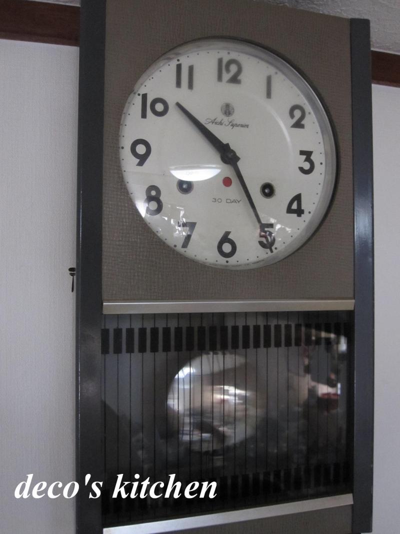 decoの小さな台所。-ぼんぼん時計2