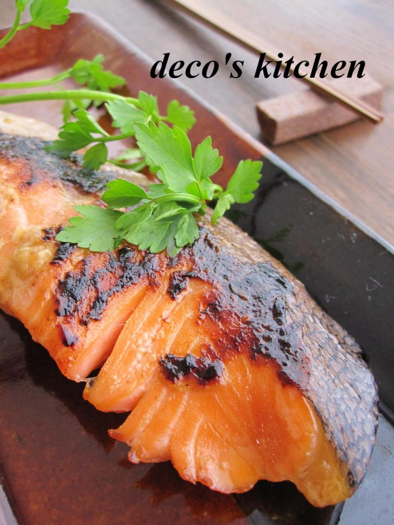 decoの小さな台所。-鮭の甘酒醤油漬け焼き3