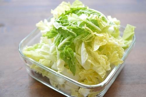 白菜ナムル工程1