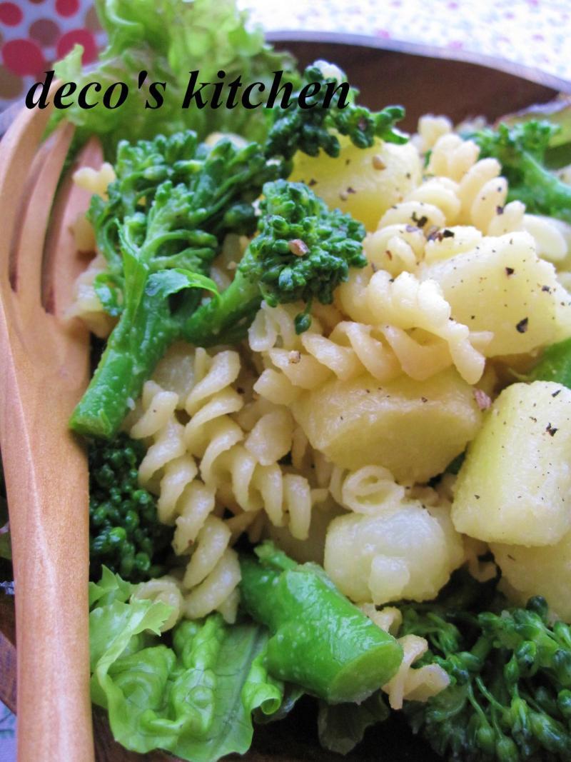 decoの小さな台所。-ポテトとブロッコリーのホットパスタサラダ5