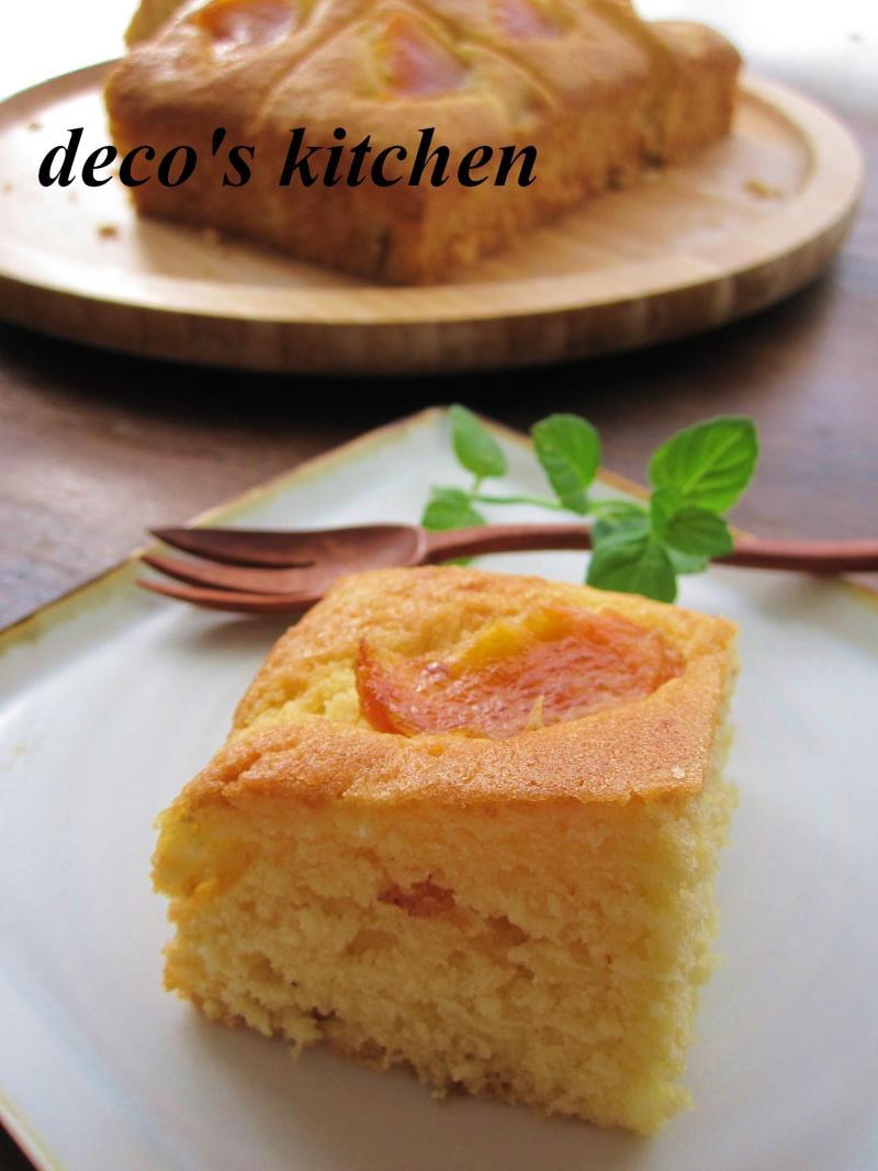 decoの小さな台所。-柿のココナッツケーキ8