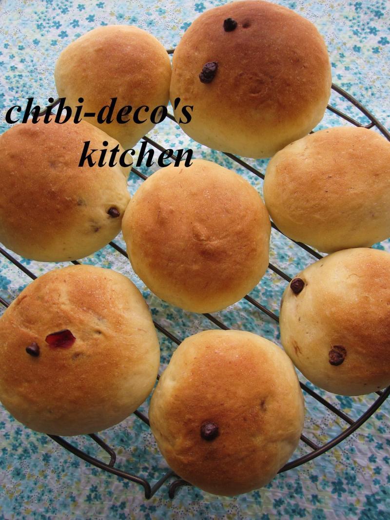 decoの小さな台所。-ちびdecoのバナナ丸パン1