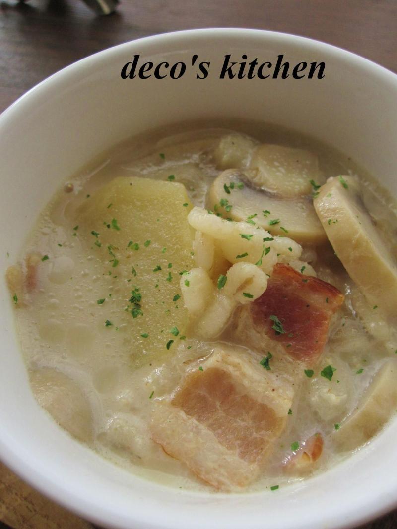 decoの小さな台所。-マッシュじゃがいものミルクスープ3