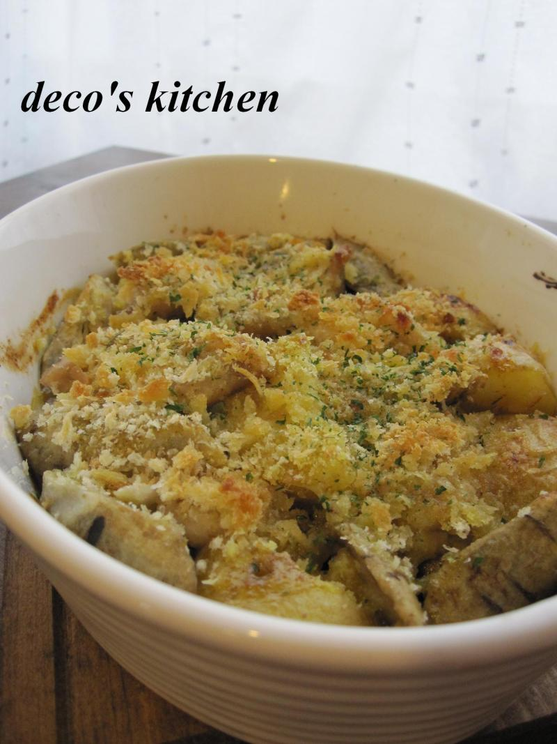 decoの小さな台所。-鶏ももと新じゃがごぼうのカレー味噌マヨ1