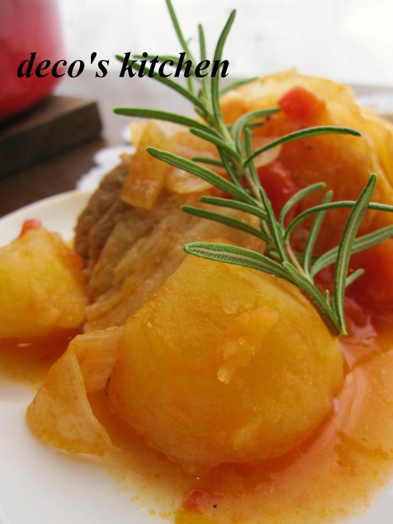 decoの小さな台所。-塩豚とじゃがいものトマト煮4