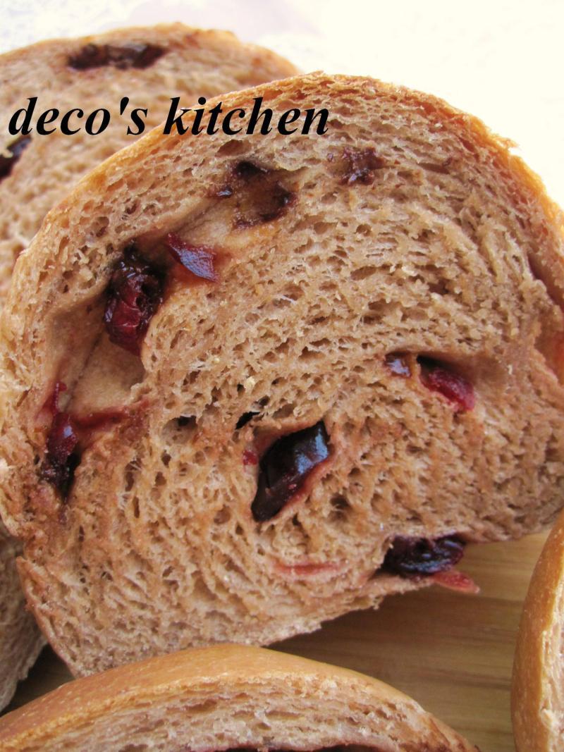decoの小さな台所。-クランベリーチョコバナナパン5
