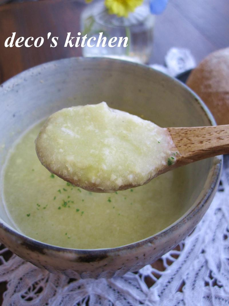 decoの小さな台所。-春キャベツと青大豆のポタージュ4