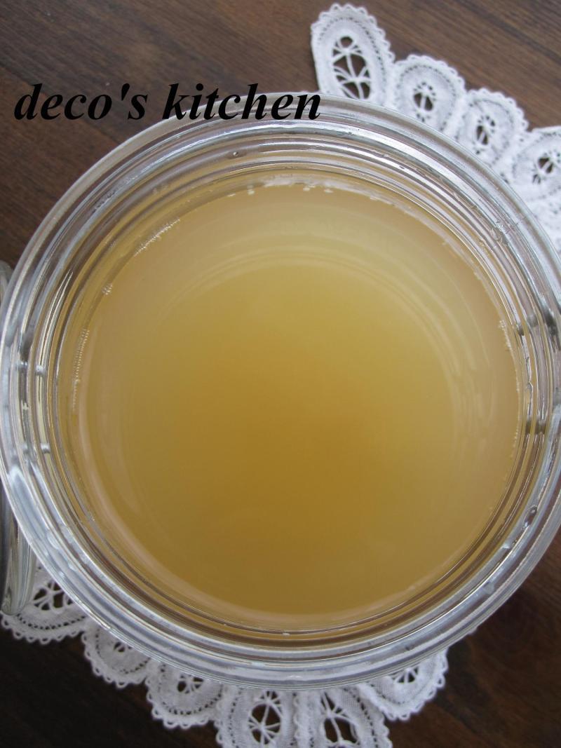 decoの小さな台所。-微炭酸りんごジュース4