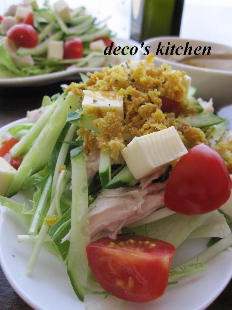 decoの小さな台所。-カレー塩のカリカリサラダ2