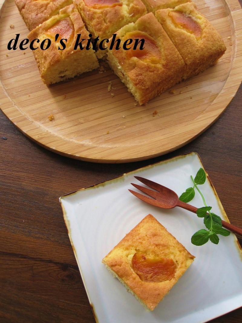 decoの小さな台所。-柿のココナッツケーキ6