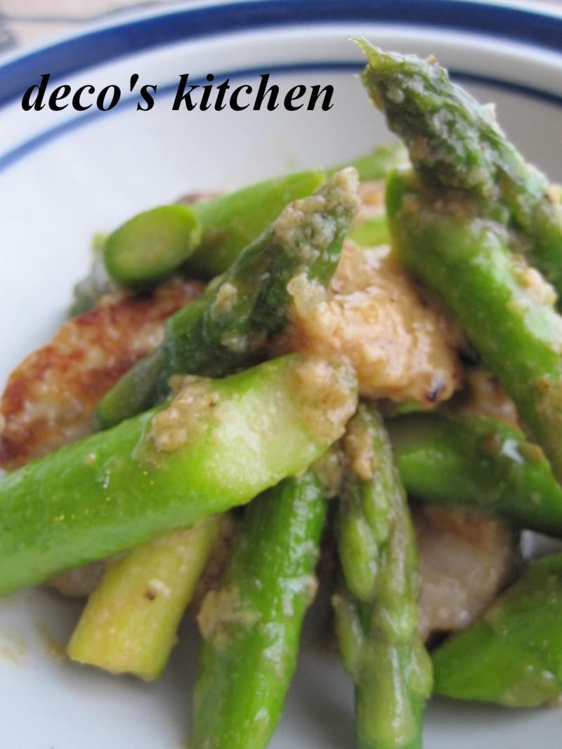 decoの小さな台所。-豚肉とアスパラの塩麹ごま炒め5