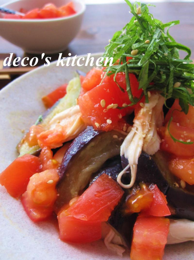 茄子とささみの黒酢かけトマ6