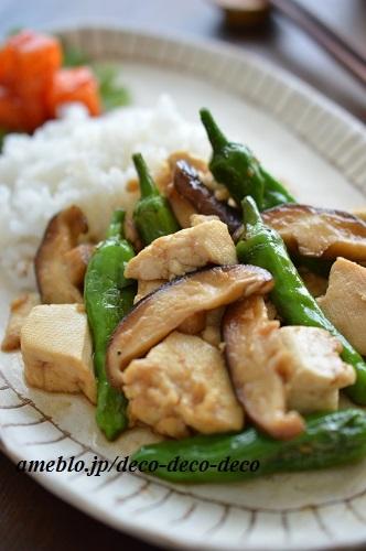 豆腐の甘辛炒め9