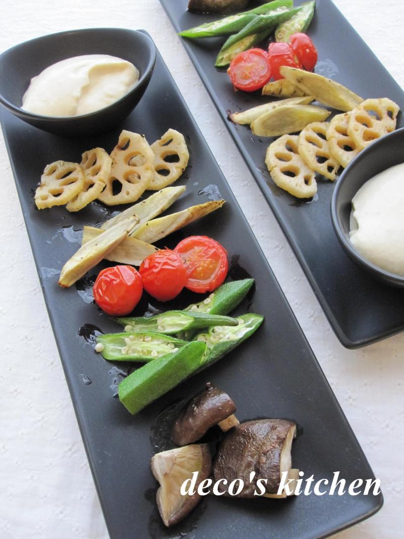 decoの小さな台所。-お豆腐ディップと焼き野菜の一皿1