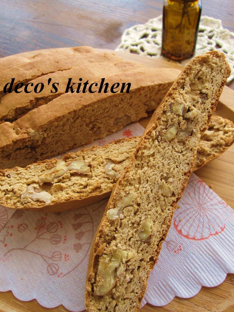 decoの小さな台所。-白味噌とくるみのビスコッティ4