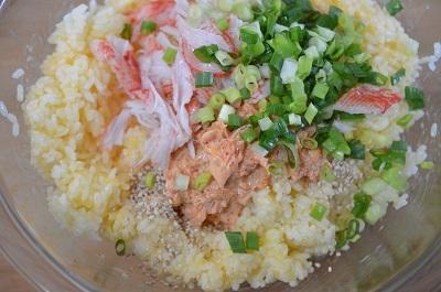キムマヨ炒飯工程4