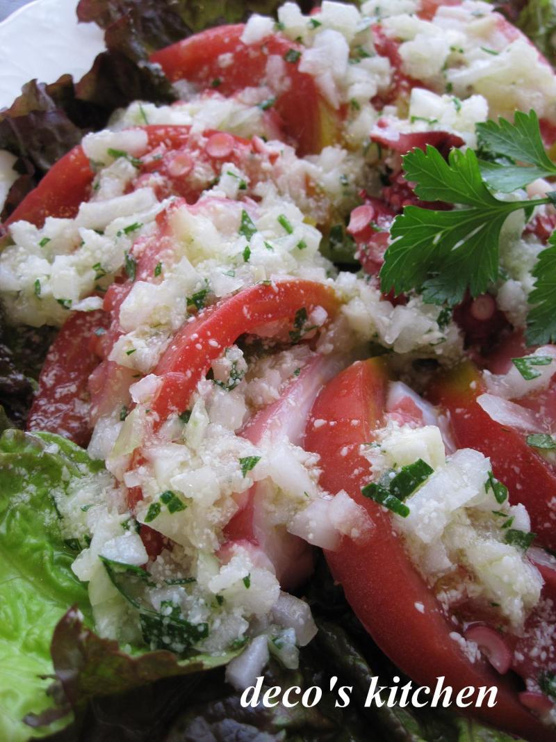 decoの小さな台所。-2010誕生日、タコとトマトのマリネ4